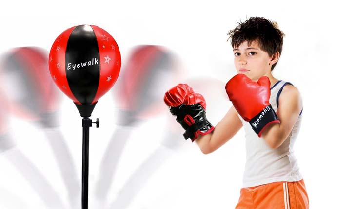 kids boxing gloves and punching bag